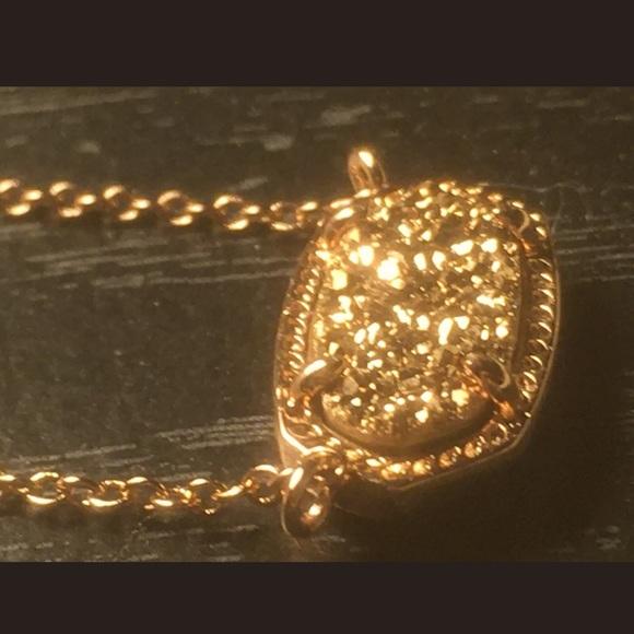 NWT KENDRA SCOTT Elisa Necklace W Rose Gold Drusy